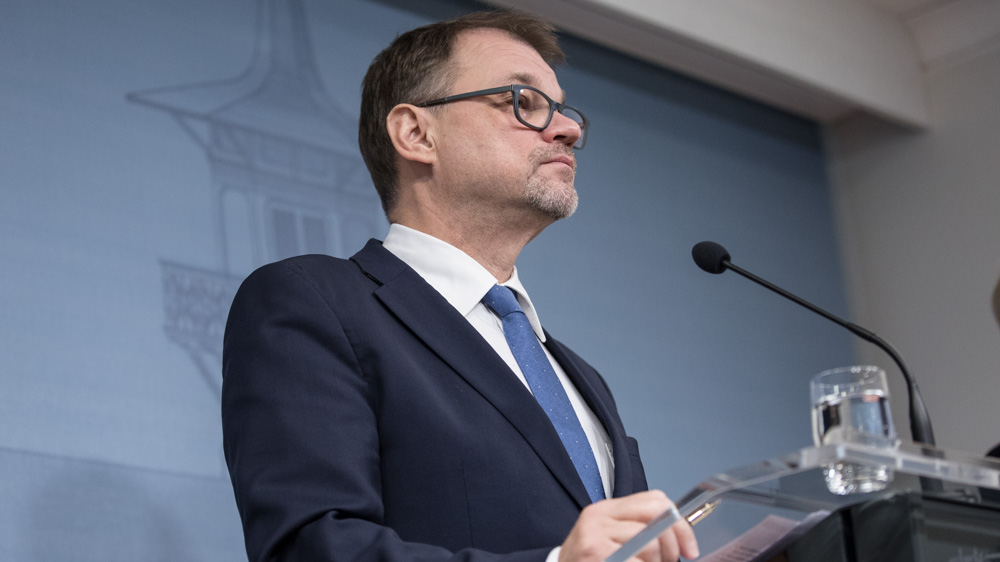 Prime Minister Juha Sipilä submits Government's request for resignation – Government to continue on caretaker basis
